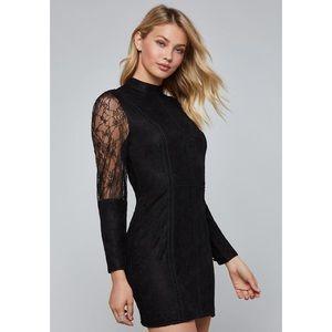Bebe Lattice Trim Lace Dress Size 6